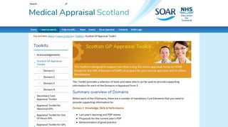 Scottish GP Appraisal Toolkit - Scottish Online Appraisal Resource ...
