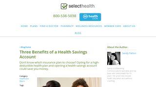 Three Benefits of a Health Savings Account - SelectHealth