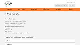 E-Mail Set-Up | SenText Solutions
