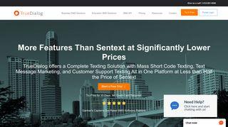 Compare TrueDialog to Sentext Solutions