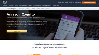 Amazon Cognito - Simple and Secure User Sign Up & Sign In ...