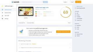 Check setformarriage.com's SEO - Woorank