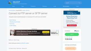 Connect to FTP server or SFTP server :: WinSCP