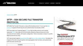 SFTP File Transfer Protocol. Get SFTP client & server | SSH.COM