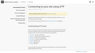 Connecting to your site using sFTP - Business Catalyst Support
