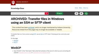Transfer files in Windows using an SSH or SFTP client