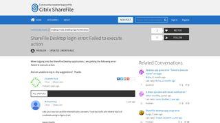 ShareFile Desktop login error: Failed to execute action | Citrix ...