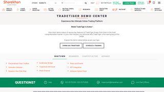 Trade Tiger Demo Center - Sharekhan