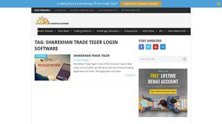 sharekhan trade tiger login software Archives   A Digital Blogger