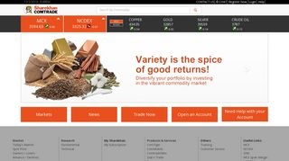 Sharekhan ComTrade, Online Commodity trading, MCX, NCDEX