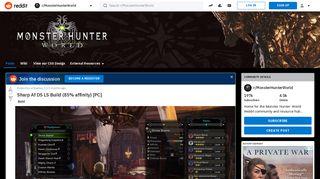 Sharp Af DS LS Build (85% affinity) [PC] : MonsterHunterWorld - Reddit