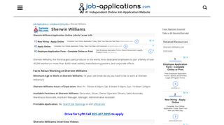 Sherwin-Williams Application, Jobs & Careers Online
