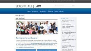 Current Students - Seton Hall Law School - Seton Hall University