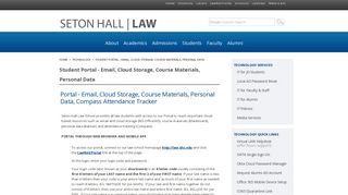 Student Portal - Email, Cloud Storage, Course Materials, Personal ...