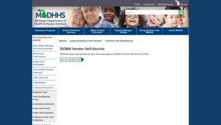 MDHHS - SIGMA Vendor Self-Service - State of Michigan