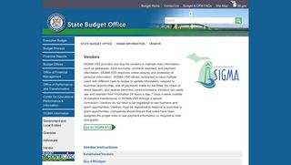 State Budget Office - Vendor - State of Michigan
