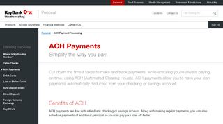 ACH Payment Processing | KeyBank