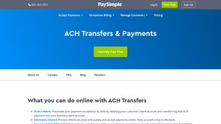 ACH Transfer Service | Send Online ACH Payments & Billing