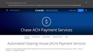 ACH payment | Business Banking | Chase.com