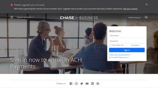Sign in to use ACH Payments- Business Banking - Chase.com