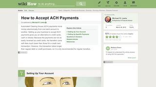 How to Accept ACH Payments: 8 Steps (with Pictures) - wikiHow