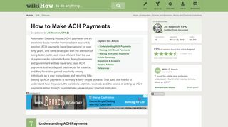 How to Make ACH Payments: 12 Steps (with Pictures) - wikiHow