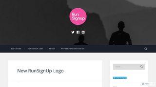 New RunSignUp Logo – RunSignup