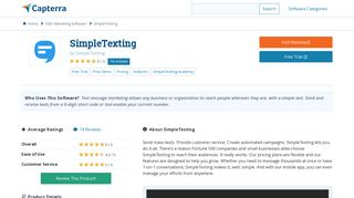 SimpleTexting Reviews and Pricing - 2019 - Capterra