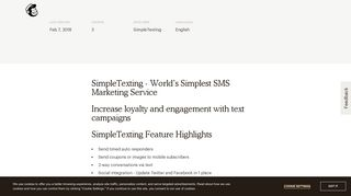 SimpleTexting - SMS and Text Message Marketing - MailChimp
