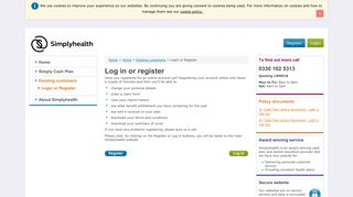 Your employee benefit microsite - Log in or register - Simplyhealth