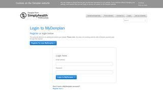 MyDenplan login | Denplan by Simplyhealth Professionals