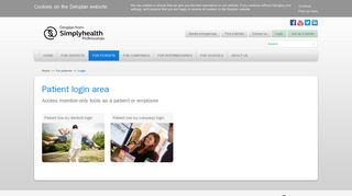 Login to Simplyhealth Professionals | patients and employees login ...