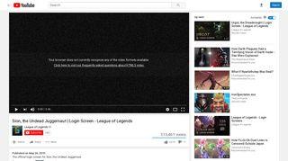 Sion, the Undead Juggernaut | Login Screen - League of Legends ...