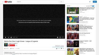 Mecha Zero Sion | Login Screen - League of Legends - YouTube