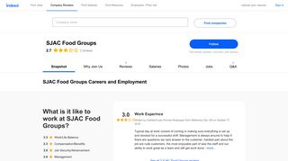 SJAC Food Groups Careers and Employment | Indeed.com