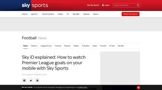 Sky iD explained: How to watch Premier League goals ... - Sky Sports