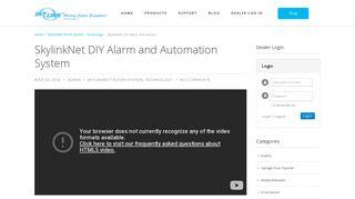 SkylinkNet DIY Alarm and Automation System - SkylinkNet App