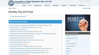 Benefits, Pay, and Travel - AFA United MEC