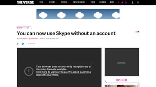 You can now use Skype without an account - The Verge