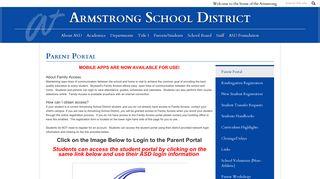 Parent Portal – Parents/Students – Armstrong School District