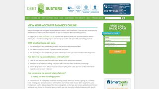 View your account balances online - DebtBusters