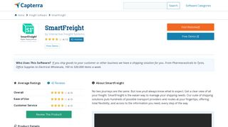 SmartFreight Reviews and Pricing - 2019 - Capterra