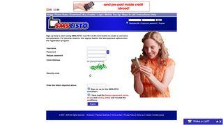 Register - SMSLISTO | Cheap SMS