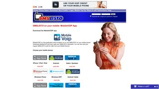 Download the MobileVOIP app - SMSLISTO | Cheap SMS