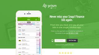 Pay Snap! Finance with Prism • Prism - Prism Bills