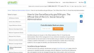 Social Security - eHealth Medicare