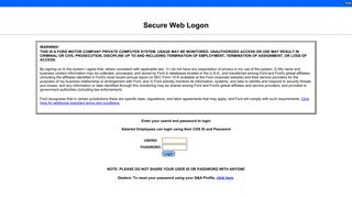 Secure Web Login