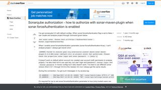 Sonarqube authorization - how to authorize with sonar-maven-plugin ...