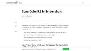 SonarSource Blog » SonarQube 5.3 in Screenshots