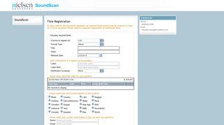 Nielsen Soundscan Title Registration